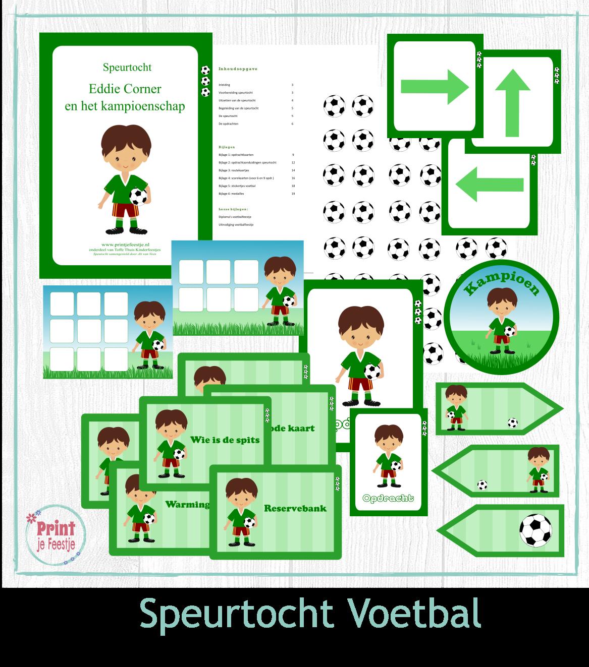 Voetbal Speurtocht - Print je Feestje