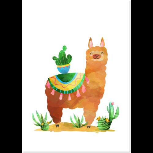 Poster Lama  Cactus