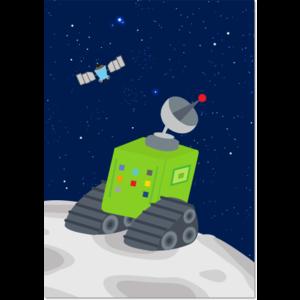 Poster Ruimte Maankarretje