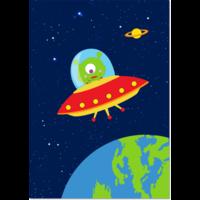 Poster Ruimte Ufo