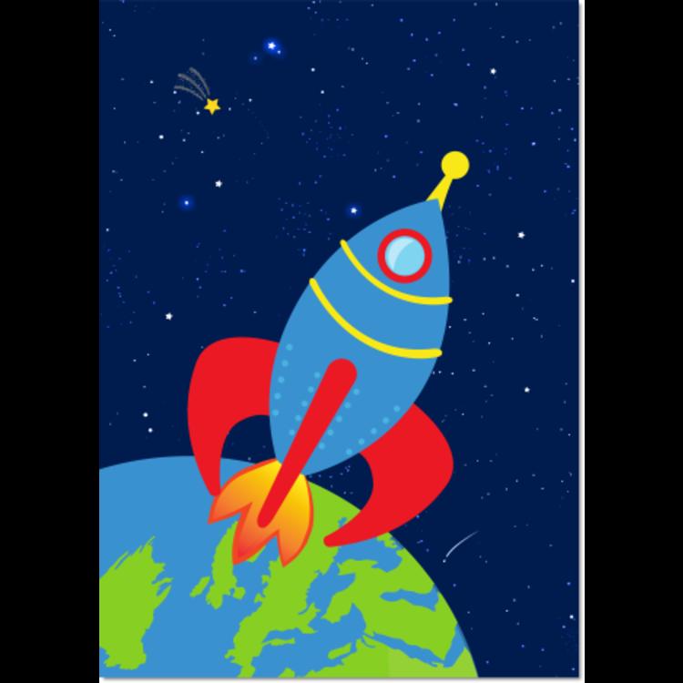 Poster Ruimte Raket