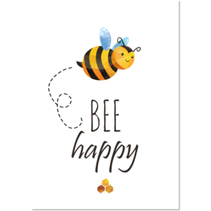 Poster Bee Happy