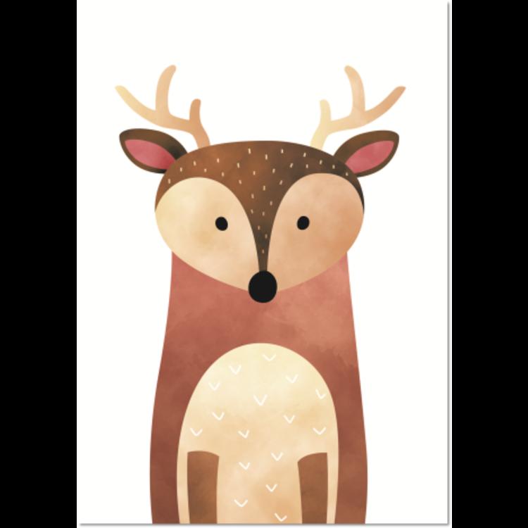 Poster Bosdieren Hert