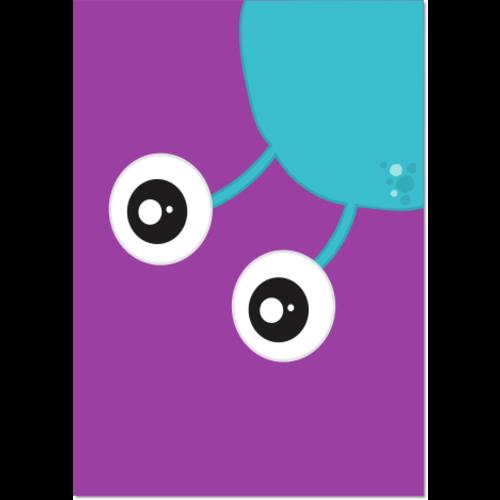 Poster Monster blauw