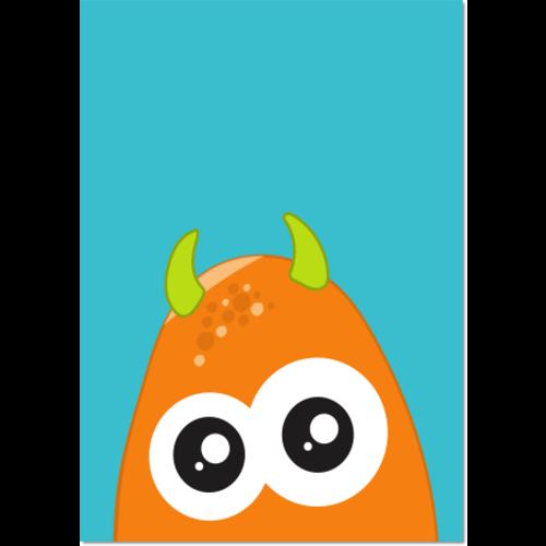 Poster Monster Oranje