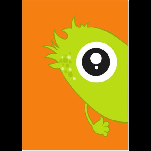 Poster Monster Groen