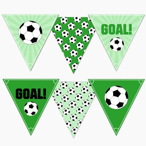 Vlaggenlijn voetbal DIY