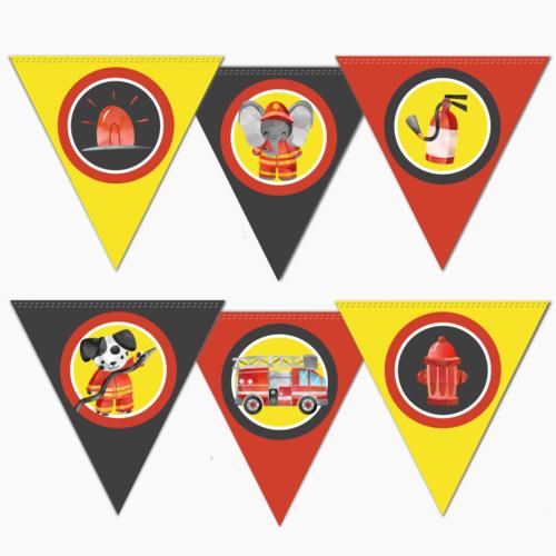 Vlaggenlijn Brandweer DIY