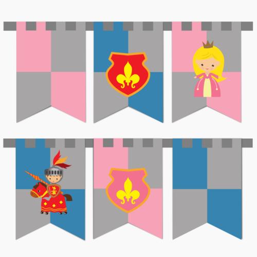 Vlaggenlijn Ridders en Prinsessen DIY