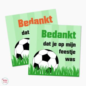 Traktatielabel Voetbalfeestje