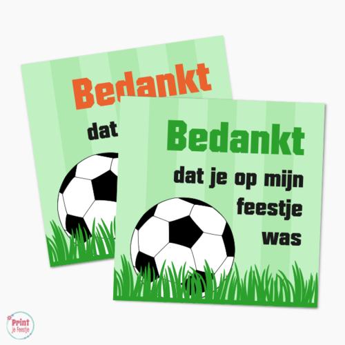 Label Voetbalfeestje