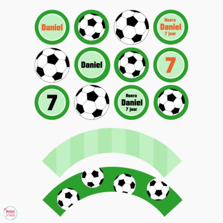 Cupcake Toppers en Wrappers Voetbal