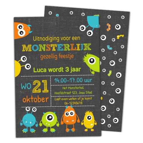 Uitnodiging Monsters Krijt