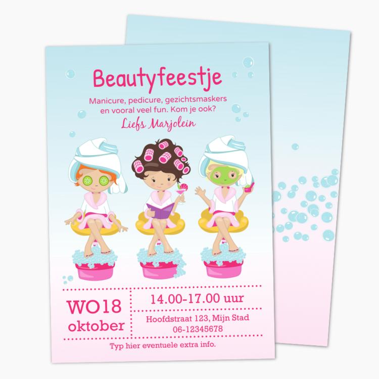 Uitnodiging Beautyfeestje