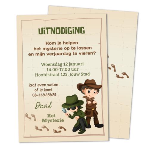 Uitnodiging Detectives