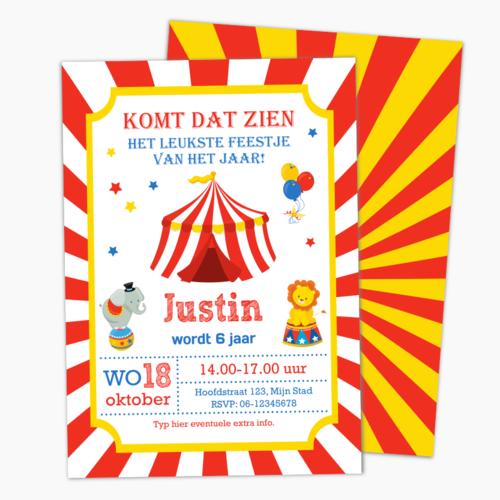 Uitnodiging Circusfeestje