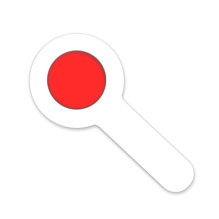 Rode decoder vergrootglas