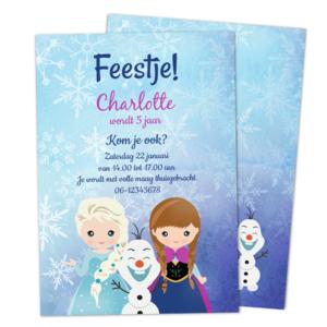 Uitnodiging Frozen Prinsessen