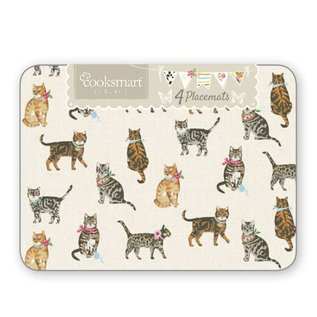 Cooksmart Cats on parade Placemats (Per 4st.)
