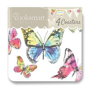 Cooksmart Butterfly Onderzetters (Per 4st.)