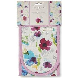 Cooksmart Chatsworth Floral ovenhandschoenen