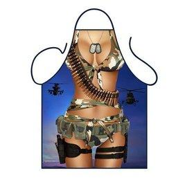 Barbecue schort Sexy vrouwelijke soldaat