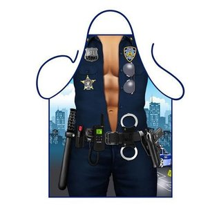 Barbecue schort Sexy politie agent