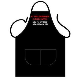 Barbecue schort BBQ regels