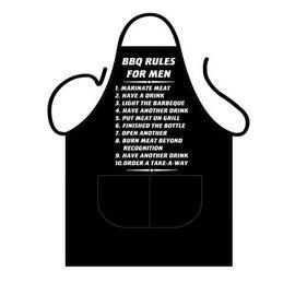 Barbecue schort BBQ regels voor mannen