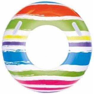 Bestway Opblaasbare zwembad gestreept Diam. 91 cm