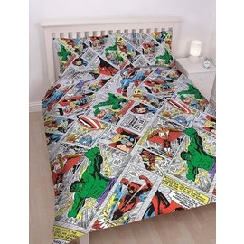 Marvel Comics Avengers dekbedovertrek Retro 200x200 cm