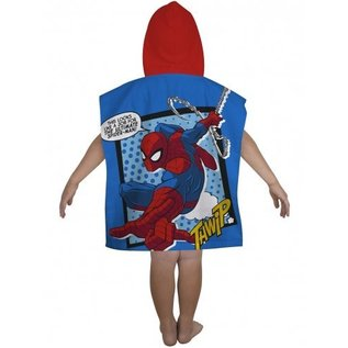 Marvel Comics Spiderman badponcho met capuchon