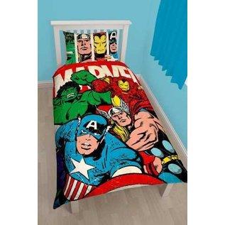 Marvel Comics Avengers dekbedovertrek Strike 135x200 cm