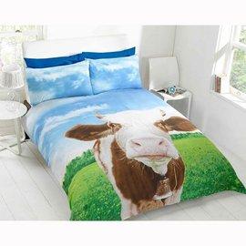 Dekbedovertrek roodbonte koe 135x200 cm