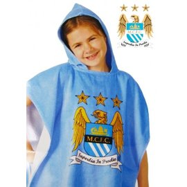 Manchester City FC badponcho met capuchon