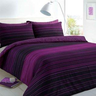 Paars dekbedovertrek Texture stripe