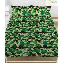 Camouflage dekbedovertrek groen 200x200 cm
