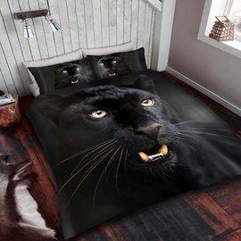 Zwarte panter dekbedovertrek 137x200 cm
