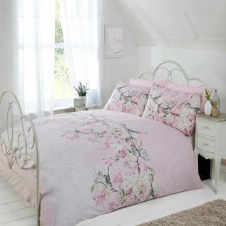Bloemen dekbedovertrek Eloise roze