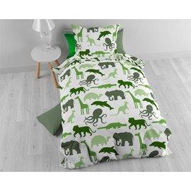 Sleeptime dekbedovertrek animals 140x200 cm