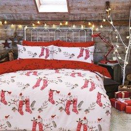 Kerst dekbedovertrek kerstsokken