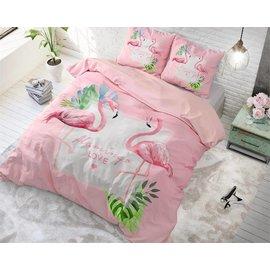 Dreamhouse Dekbedovertrek flamingo love