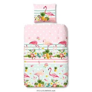 Good morning Flamingo dekbedovertrek 140x220 cm