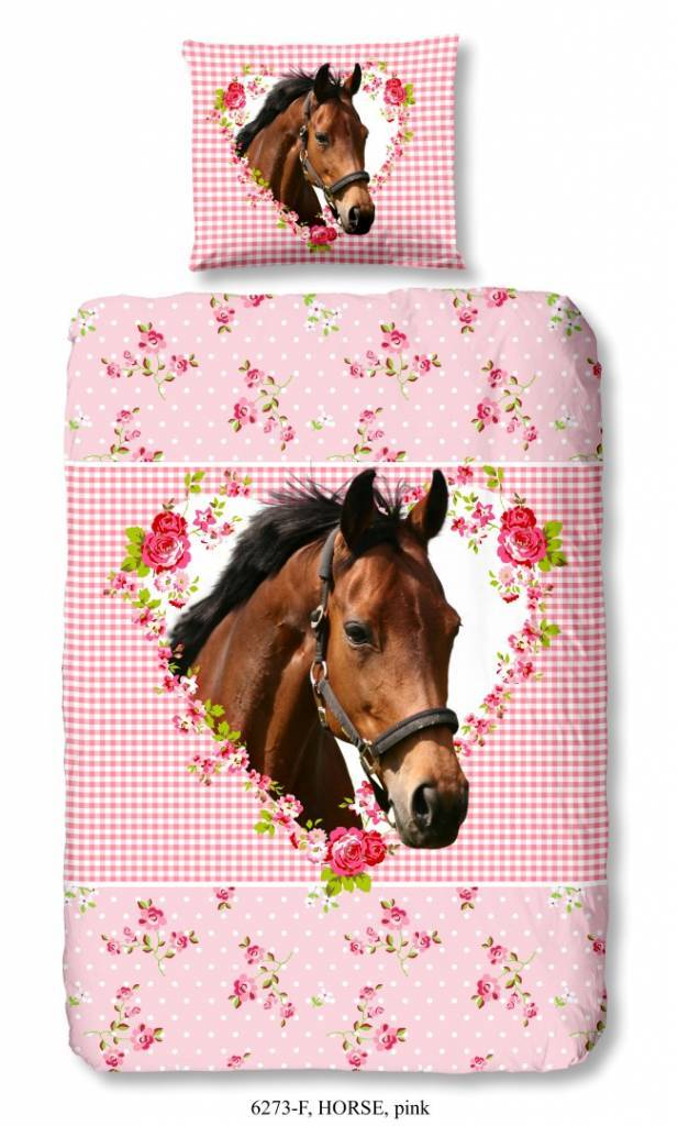 Good Morning Dekbedovertrek Horse 140x220 Cm Van 100 Katoen Flanel