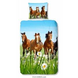 Good morning Paarden dekbedovertrek Horses 140x220 cm