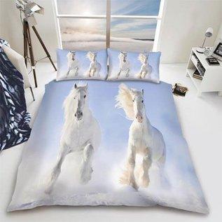 Dekbedovertrek witte paarden