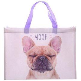 Shopper met mopshond