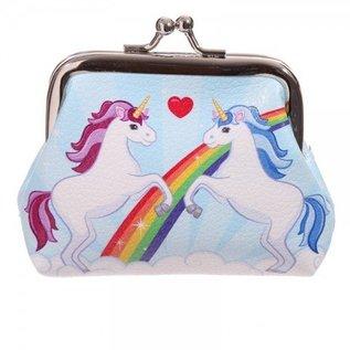 Unicorn portemonnee met knipsluiting