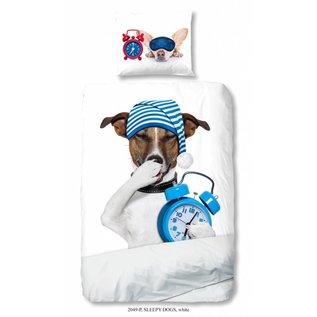 Good morning Sleepy dog dekbedovertrek 140x220 cm