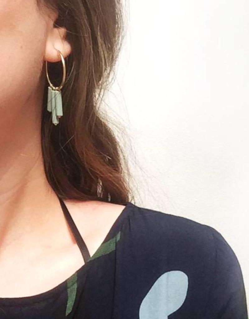 Jacqueline & Compote Mono oorbellen verguld